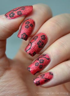 Stamping on the texture polish