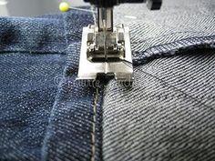 Tutorial for hemming jeans