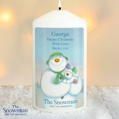 The Snowman and the Snowdog Personalised Christmas Candle Personalised Gift Shop, Personalized Candles, Personalized Products, Snowman And The Snowdog, Peter Rabbit Birthday, Love You To Pieces, Christmas Candles, Christmas Gifts, Christmas Ideas