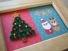 ペーパークラフト1dayレッスンのお知らせです!ペーパークイリングとクラフトパンチで「クリスマス・フレーム」を作ります♪クリスマスツリーをペーパークイリングで… Quilling Paper Craft, Paper Crafts, Origami Santa Claus, Merry Christmas Card, Punch Art, Watercolor Cards, Xmas Tree, Flower Crafts, Paper Art