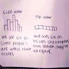 How we see sin versus how God sees sin...this is a good reminder!