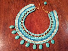 This crochette necklace will be really nice in summer no?