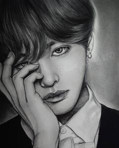 Sketchbook And Have Fun - Drawing On Demand Kim Tae-Hyung. Pencil Portrait Drawings of Celebrities and Non. By YU. Pencil Portrait Drawings of Celebrities and Non. By YU. Pencil Portrait Drawing, Pencil Drawings, Celebrity Drawings, Drawings Of Celebrities, Taehyung Fanart, Kpop Drawings, Realistic Drawings, Portrait Illustration, Japanese Artists