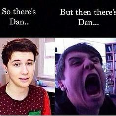 Yes. This is the same person... Outside Dan's like yeah I'm cool and totally adorable... Inside Dan's like yeah right I laugh at how weird and awkward I am, in your face suckers, but I'm adorable it's true... Lol