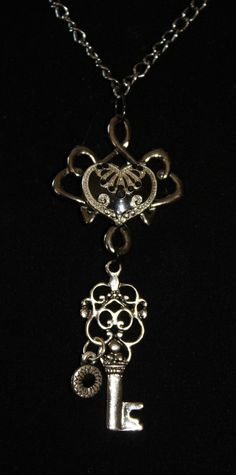 Necklace- heart & key