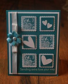 Sending Love...Stamps: Fresh Vintage, Messages for Mom...By mamaxsix - Cards and Paper Crafts at Splitcoaststampers