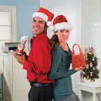 two people exchanging gifts at a white elephant gift exchange Christmas Gifts 2016, Adult Christmas Party, Office Holiday Party, Holiday Fun, Christmas Games, Christmas Stuff, Holiday Parties, Weird Gifts, Fun Gifts