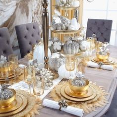 Who is getting ready for the holidays? Time to start shopping for your family gatherings. Impress your guests with these beautiful pieces from @zgallerie 's Fall/Winter Entertaining Guide! Each piece designed with class to create an elegant, one of a kind table set up that will surely leave your guests talking! Check out their page for more of their unique home decor @zgallerie... - Interior Design Ideas, Interior Decor and Designs, Home Design Inspiration, Room Design Ideas, Interior…