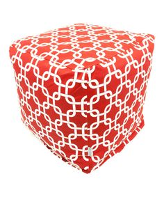 Look at this Red Links Indoor/Outdoor Cube Ottoman on #zulily today!