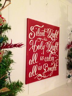 Christmas Holiday Decoration Painted Silent by TheBarnWoodSign