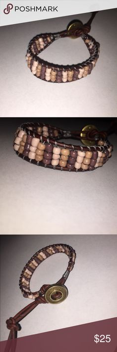 Pink, Purple, Tan Handmade Leather Button Bracelet My bracelets are 100% genuine leather and handmade with love and care 💕 Forget a Chan Luu when you can have one of my bracelets for way less! Shoot me an offer ladies! Jewelry Bracelets