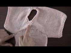 ▶ Dos agujas: mangas pegadas: cómo coser las mangas - YouTube