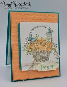 Stampin' Up! Blossoming Basket Bundle for the Happy Inkin' Thursday Blog Hop