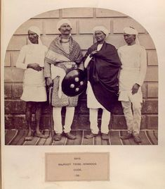 Ethnographic Arms & Armour - Period Photos of People with Ethnographic Arms