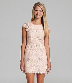 BCBGeneration Open Back Floral Lace Dress #Dillards