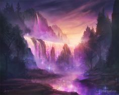 Astral Waterfall by jcbarquet.deviantart.com on @deviantART