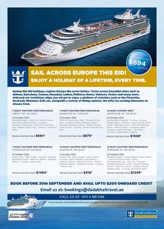 Eid Holiday Cruise   Visit: http://www.dadabhaitravel.ae/en/eid-holidays-offer2013.php for more details.