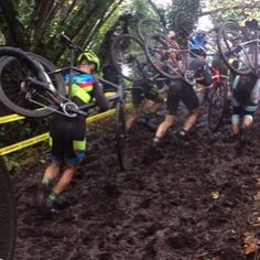 So much mud so few Heritage Trees to damage. Head over to TBR and read about Adam Spears' cx adventure in the Pacific Northwest.  #cross #cyclocross #willraceforbeer #txcx #heritagetrees #texas #seattle by texasbikeracing