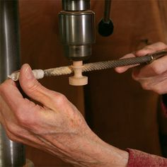 Create custom door and drawer knobs using your drill press... or control knobs