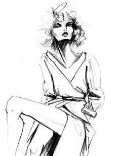 Pencil sketch by Lara Wolf #fashion #illustration