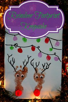 This Reindeer Footprint Keepsake is the perfect and cutest gift for little feet to make.
