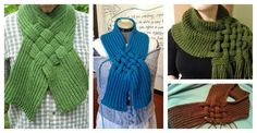 The Celtic Knot Looped Scarf Free Knitting Patternis specially designed to cover the neck and chest. It will be fun to wear all winter time.