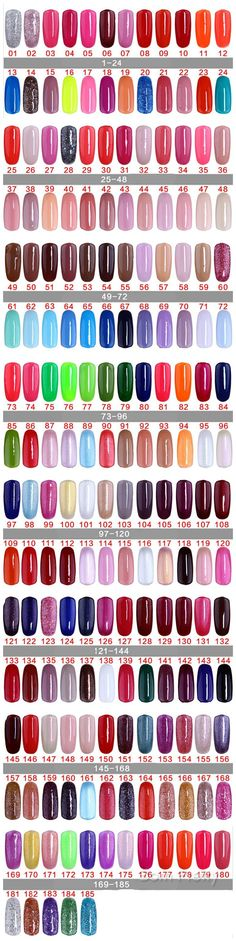 $6.98 1pc 15ml UV Builder Polish Gel Nail Art Soak Off Gel Candy Color UV Gel 185 Colors Available - BornPrettyStore.com