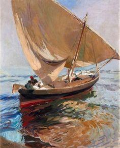 Joaquín Sorolla. Camino de la pesca. Valencia, 1908