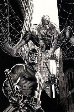 Lee Bermejo Amazing Spider-Man Variant Cover, in J L's Lee Bermejo Comic Art Gallery Room Comic Book Artists, Comic Book Characters, Comic Book Heroes, Comic Artist, Marvel Characters, Comic Books Art, Bd Comics, Marvel Comics Art, Marvel Heroes