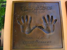 Robin Williams Disney Legend at the Disney Legends Plaza