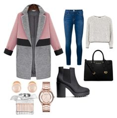 Street by sashagorkaya on Polyvore featuring polyvore, fashion, style, Topshop, Frame Denim, H&M, Michael Kors, Marc by Marc Jacobs, Kenneth Jay Lane, Chloé and clothing
