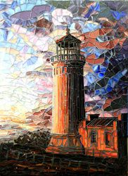 North Head Lighthouse New mosaic art by Carl and Sandra Bryant Showcase Mosaics