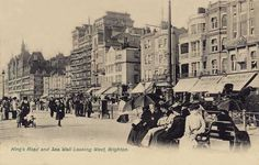 Sussex, Brighton, Kings Road - showing Mutton's Hotel and Restaurant.jpg 1,280×815 pixels
