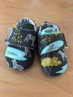 Black Safari Baby Shoes, 0-3 months