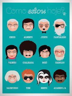 """Homage to the great Brazilian comedian Chico Anysio"" - Bruno Honda"