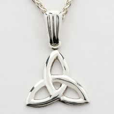 The Trinity Knot - no beginning, no middle, no end.  This widely recognized Trinity knot has been used as a symbol for centuries and recalls the Holy Trinity, the three leaf shamrock offered by St. Patrick and has become a sign of unity and love.