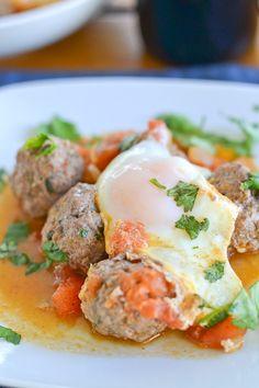 Moroccan Meatballs, Egg and Tomato Tagine