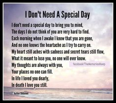 I Don't Need A Special Day