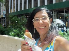 My first hot dog in New York