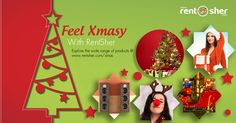 """""""#Christmas is the perfect time to celebrate and feel the love of God and family & to create memories"""".  Let's create long lasting memories on this festive season with #Xmas special Rentals from RentSher like #Santa_Costumes, #Xmas_Tree Decorations, Lightings, Party props, #Barbecue Grill, DJ's, Live #Santa Character and More from RentSher at affordable cost with home delivery across #Bangalore and #Delhi. Visit us today to book your requirements. http://www.rentsher.com/xmas"""