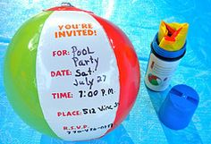 Kids Beach Party, Kids Pool Party Ideas, Beach Party Food Probably for an indoor. Kids Beach Party, Kids Pool Party Ideas, Beach Party Food Probably for an indoor… Pool Party Themes, Luau Party, Party Ideas, Diy Party, Kids Beach Party, Beach Kids, Indoor Beach Party, Pool Party Invitations, Birthday Invitations