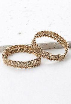 Stretchy Beaded Bracelet Set   Forever 21 - 1000112156