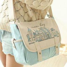Print Messenger Bag