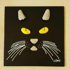 20×20 cm. #tasboyama #tasboyamasanati #tastasarim #stoneart #paintingrocks #paint #handmade #elyapimi #art #sanat #creative #homedecor #dekorasyon #hediyelik #kisiyeozelhediye  #kedi #cat #chat #karakedi #animal #evcilhayvan #satilik