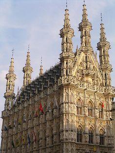 Gothic townhall of Leuven, Belgium