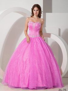 Beautiful Ball Gown Sweetheart Quinceanera Dresses with Beading for 2014