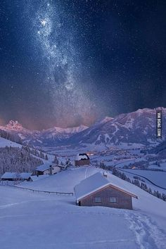 Find images and videos about nature, sky and winter on We Heart It - the app to get lost in what you love. Winter Szenen, Winter Magic, Winter Time, Winter Night, Winter Walk, Beautiful World, Beautiful Places, Beautiful Pictures, Beautiful Hotels