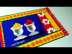 Indian Rangoli Designs, Basic Mehndi Designs, Rangoli Designs Latest, Simple Rangoli Designs Images, Colorful Rangoli Designs, Rangoli Ideas, Poster Rangoli, Diwali Decorations At Home, Special Rangoli