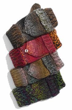 Main Image - Brazen 'Rainbow' Knit Pop Top Mittens