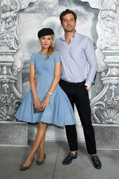 Diane Kruger and Joshua Jackson - Chanel Couture Showgoers Posed Before a Fun, Promlike Backdrop -- The Cut